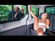 FUCKED IN TRAFFIC - Czech blondie Barra Brass loves public sex the car