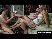 femdom footjob from two girls