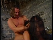 Unleashed brunette wildly banged in the hay