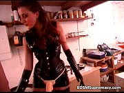Hot slut in leather tries to satisfy