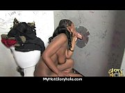 black chick gives gloryhole blowjob 27