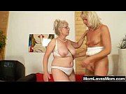 Well-endowed grandma penetrates a milf Thumbnail