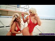 perfect busty baywatch babes in this hot threesome fuck