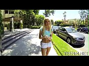 Hot legal age teenager halle von is using her throat