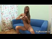 skinny blonde russian babe teasing her.
