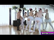Hot teen ballerinas fuck with their instructor