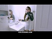 SisLovesMe - Hot Stepsis Fucks And Accidentally Bites Stepbros Cock