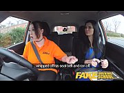 fake driving school jailbird with big tits tastes.