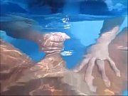 nasty wife give husband handjob in pool underwater.