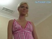 blonde strips and is fondled