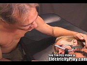 thin milf fucked hard with electricity!