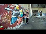 Urban sex next to a wall full of graffiti ADR055