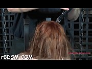 Restrained cutie made to submit to stud concupiscent demands