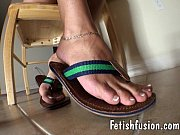 anessa'_s flip flops and barefeet