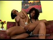 Black beauty uses strapon to pump ebony lesbian lover