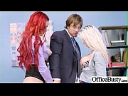 (Rachel RoXXX &amp_ Skyla Novea) Big Round Juggs Girl Like Hard Bang In Office clip-27