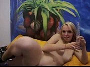 german blonde fucks her juicy sticky pussy on.