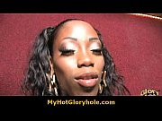 interracial gloryhole blowjob - ebony chick sucking white.