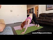 Horny Yoga Instructor Ties Up Busty Red Head Lauren Phillips