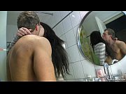 brunette teen in the bathroom fucked like a whore
