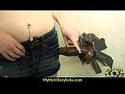 ebony teen shows off her blowjob skills at.
