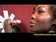Initiating black girl in the art of interracial gloryhole blowjob 38