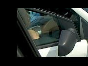 White knickers car upskirt