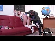 Kissable college girl gets tempted and plowed by her older teacher
