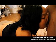 hot ebony takes 2 big black dicks in.