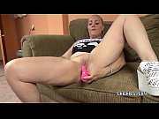 Blonde MILF Selena Sky is masturbating with her pink toy