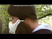 real funny girl goes for outdoor hard anal fucking