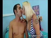 Blond cougar shrieks in pleasure pounded by step-son