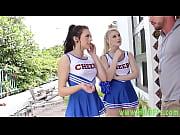 Teen cheerleaders share jock