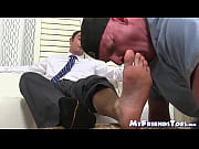 Hard working homo comes home and receives feet worshiping Thumbnail