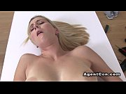 Tattooed fake agent bangs blonde in office