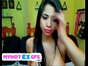 Virtual sex with my latina ex girlfiend on webcam