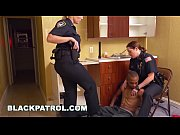 black patrol - badass milf cops squatting on.