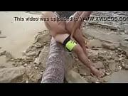 Sexo caseiro com a Mayara na praia de s&atilde_o pauo