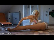 Incredible Contortion By Zlata In A White Bikini