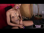 Ebony tgirl amateur stroking her cock solo - BasedCams.com