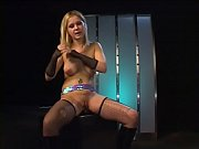 smart blonde pole dancer was putted from the.