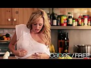 (Brett Rossi) plays with her pussy in the kitchen - BABES