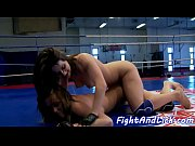busty lezzie fingered by wrestling babe
