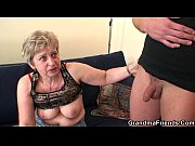 horny granny takes two cocks at.