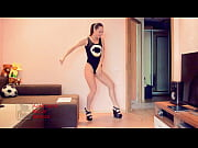 Very Sexy Long Leg Try-On Booty Dance in Swimsuit One Piece Onesie