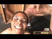 Hot ebony chick in interracial gangbang 23