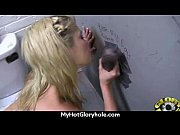 Black chick blows &amp_ fucks cock on a naughty gloryhole 19
