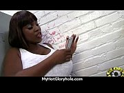 black chick gives gloryhole blowjob 20