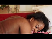 Busty lingeried ebony rimmed before anal