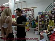 Hot blonde MILF fucked in store Thumbnail